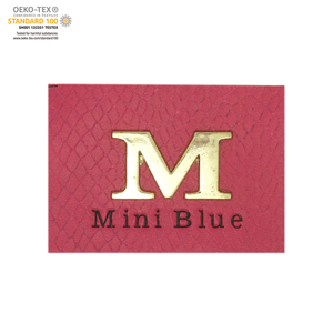 Wholesale pu label/metal garment label