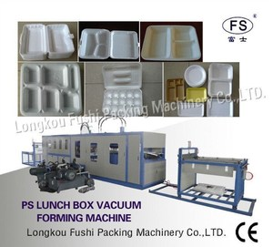 Hot sales CE approved PS disposable foam lunch container/box making machine , eps foam food tray production line