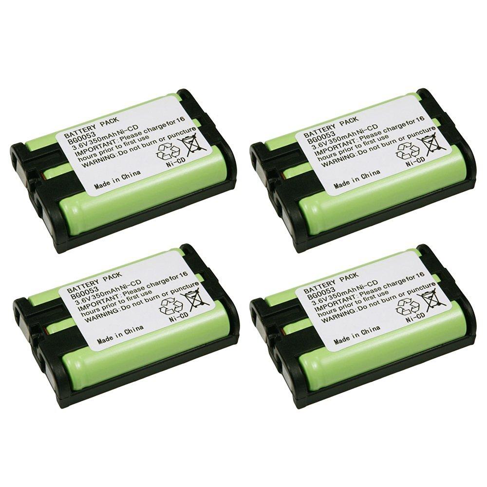4 Pack Fenzer Replacement Cordless Phone Rechargeable Battery for Panasonic KX-TGA300 KX-TGA300B KX-TGA301 KX-TGA351 KX-TGA600 KX-TGA600B KX-TGA600M KX-TGA600S KX-TGA601 PQSUHGLA1ZA TYPE 35