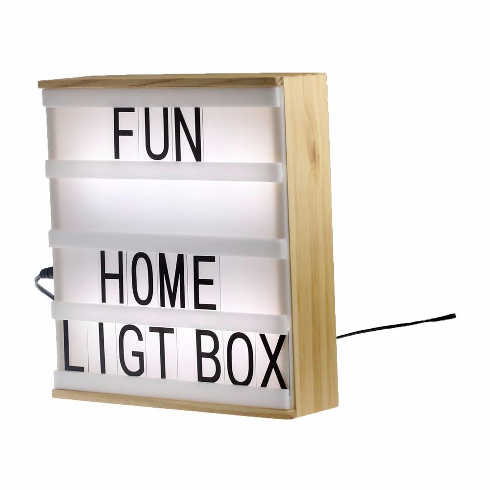 Holz Farbe A5 Holzrahmen Kino Licht Box,4 Linien,Buchstaben ...