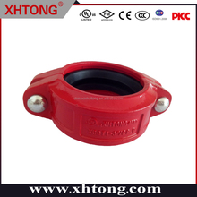 rigid coupling attractive grooved pipe fittings ductile iron CE UL FM EPDM Silicon rubber NBR