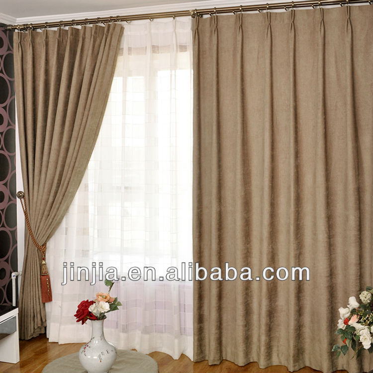Fancy drapes chenille fabric blackout curtain fabric window valances