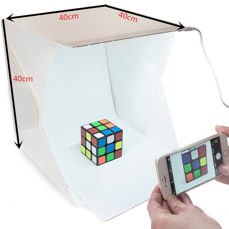 Portable Mini Photography Studio 30*30*30cm Photo Shooting Tent Box with Led Light