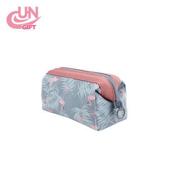 Printed Polyester Cotton Waterproof Travel Cosmetic Bag