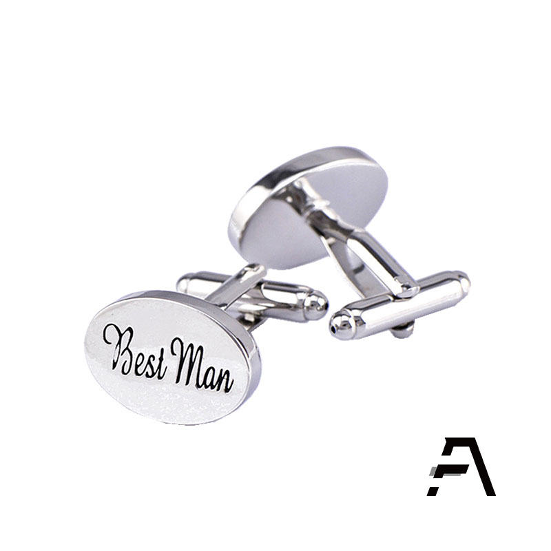 Wholesales Oval <strong>Engravable</strong> <strong>Custom</strong> Groomsman Wedding <strong>Cufflinks</strong>