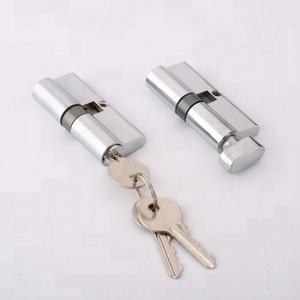 One side key lock cylinder, guard security door cylinder push barrel lock