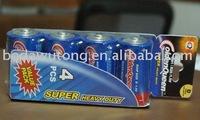 4 pcs R20 D size carbon zinc battery pack