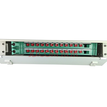 19'' 1U Rack Mount Fiber Optic 24 Port Patch Panel