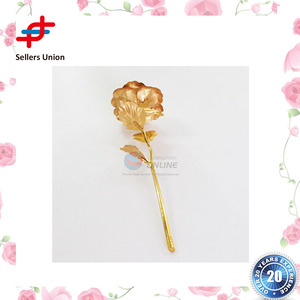 Wholesale valentines day gifts Artifical golden rose 24K with gift box