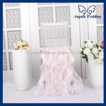 ch005h hot sale fancy organza ruffled curly willow light pink