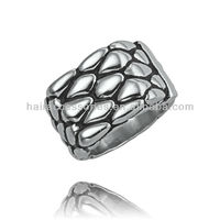 melt-liked stainless steel jewellery ring
