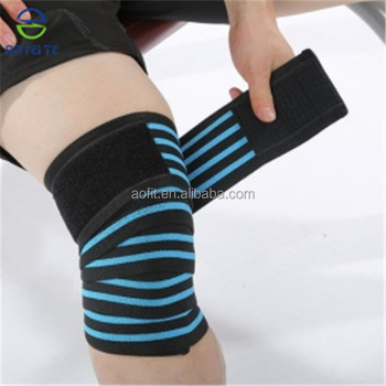 Elastic Knee Compression Bandage Wraps Support For Legs Thighs