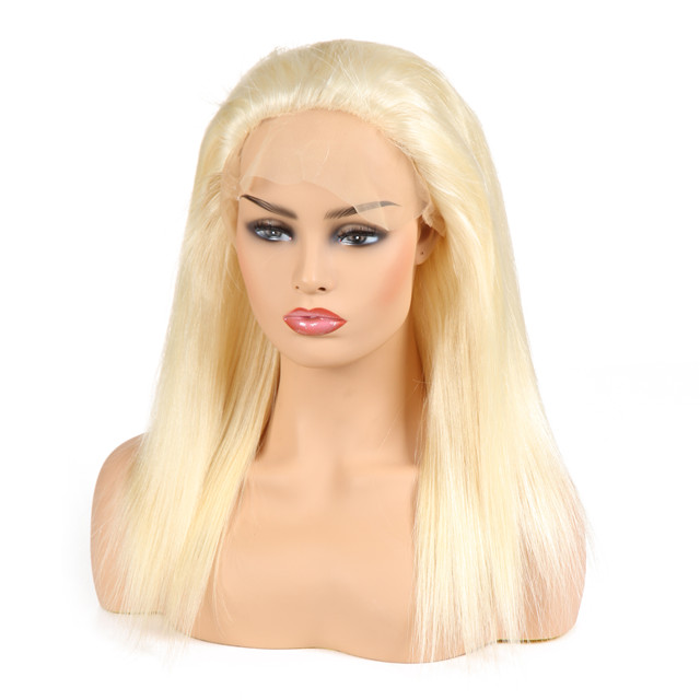 Full Cuticle Aligned Virgin Blonde Color 613 Wig Cheap Brazilian 613 Human Hair Lace Front Wigs With Baby Hair Wholesale