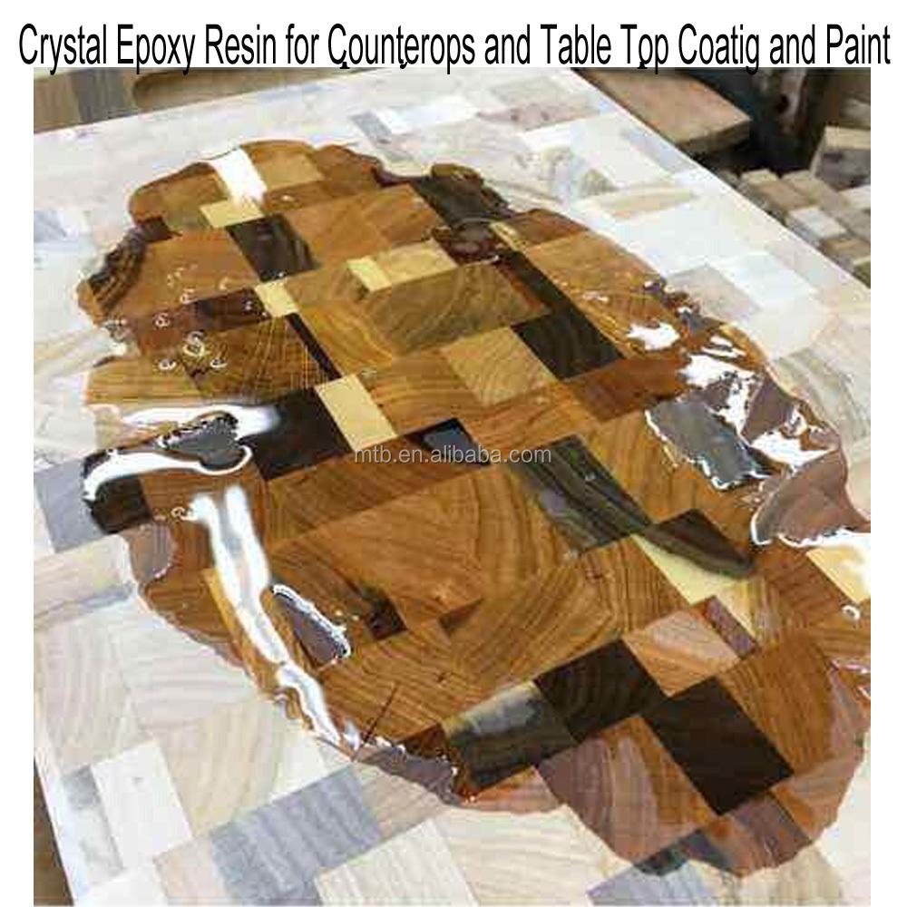 Peinture Résine Pour Meuble En Bois résine Époxy pour table en bois et revêtement de meubles et peinture - buy  bonne transparence revêtement en résine Époxy pour dessus de table en
