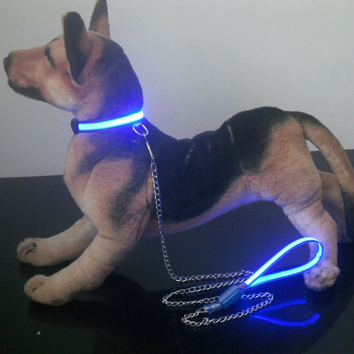 Iron Chain LED longer pet leash for dog