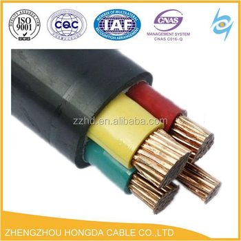 Cable Code YFY Or YWY Copper Conductor Pvc Insulated PVC Sheath Armoured Cables