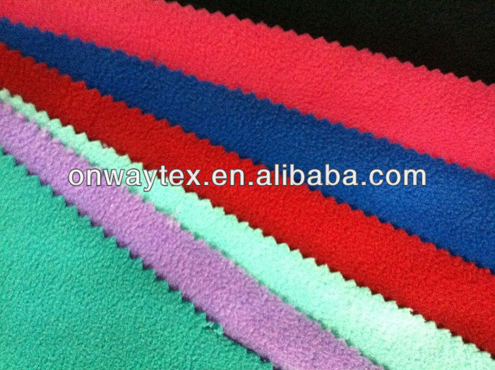 SUPER SOFT HANDFEEL 100% POLYESTER MICRO POLAR FLEECE SOLID DYE KNIT WINTER FABRIC TWO SIDE BRUSHD ONE SIDE ANTI PILLING75D/144F
