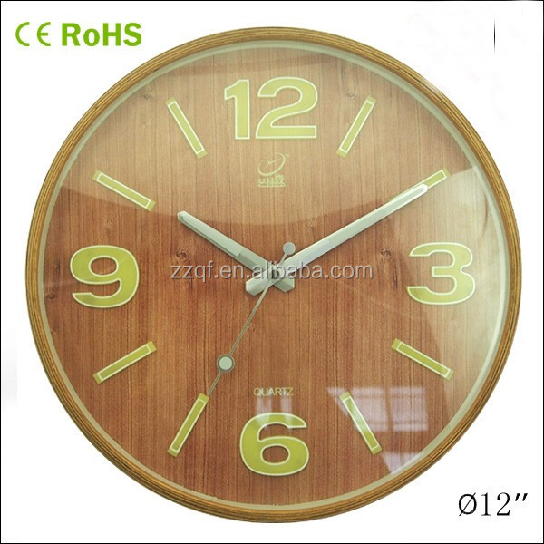innovation wooden wall clock. innovative corporate gifts luminous wall clock with wood frame  10W50NA Y2 Innovative Corporate Gifts Luminous Wall Clock With Wood Frame