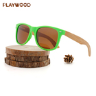 PC frame wood sunglasses italy design ce bamboo shades
