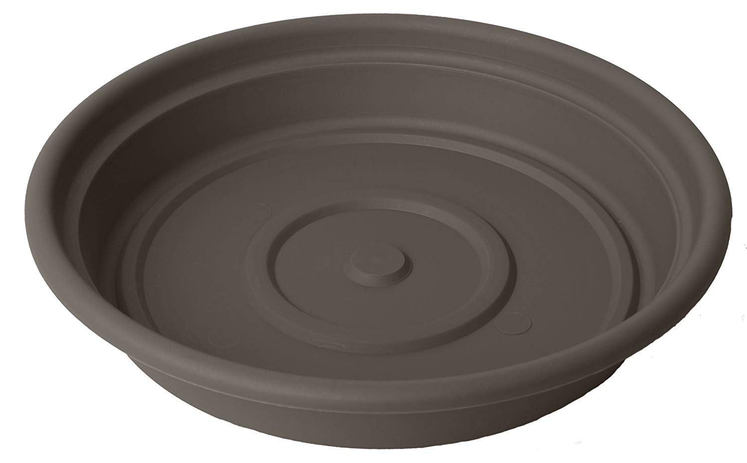 "Dura Cotta Round Saucer Planter (Set of 6) Size: 2.88"" H x 15.63"" W x 15.63"" D, Color: Peppercorn"