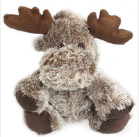 "Stuffed Animal - Soft Plush Toy for Kids - 8"" Floppy Moose Minky plush christams moose toys stuffed reindeer toys for christmas"