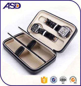 f6c24cc68 High Quality Custom Pu Zipper Couple Watches Box