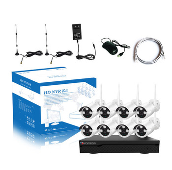 Wifi Repeater 1080P 8 Channel Wireless NVR Kit 2MP Outdoor Security CCTV Camera With DVR System