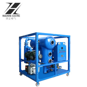 Dielectric Oil Treatment Double Stage Vacuum Transformer Oil Dehydration Machine