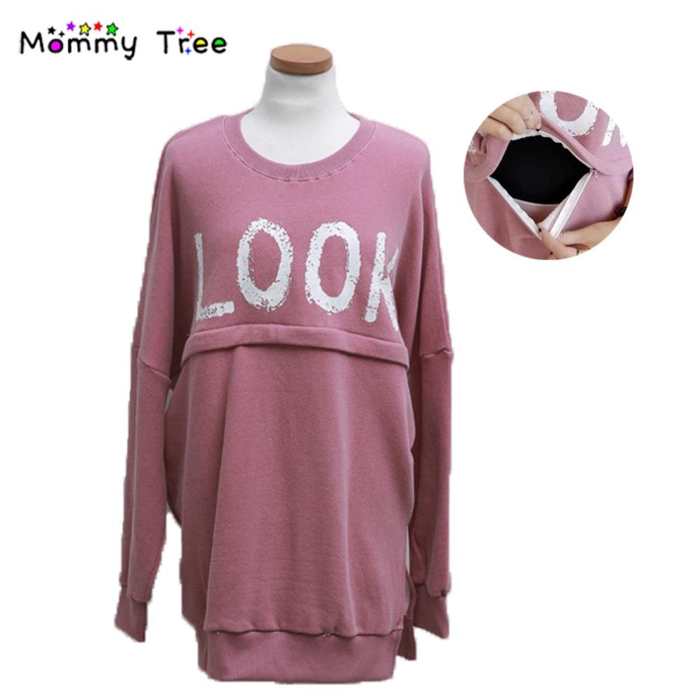 Свободного покроя розовый толстовки для женщин одежда для беременных зимой уход топ беременность толстовка верхняя одежда грудное вскармливание одежда