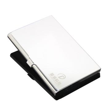 Chrome Effet Miroir Etui Porte Carte De Credit Entreprise Logo Laser Personnalise En Acier Inoxydable Metal