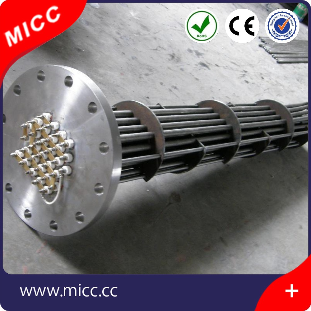 MICC 12V-480V size customized Flange Boiling Water Tubular Heater