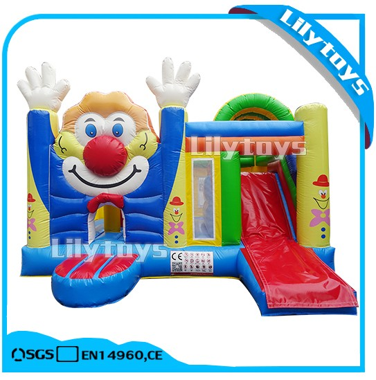 water park projects clown themes inflatable castle bouncy children inflatable small bouncer castle with slide