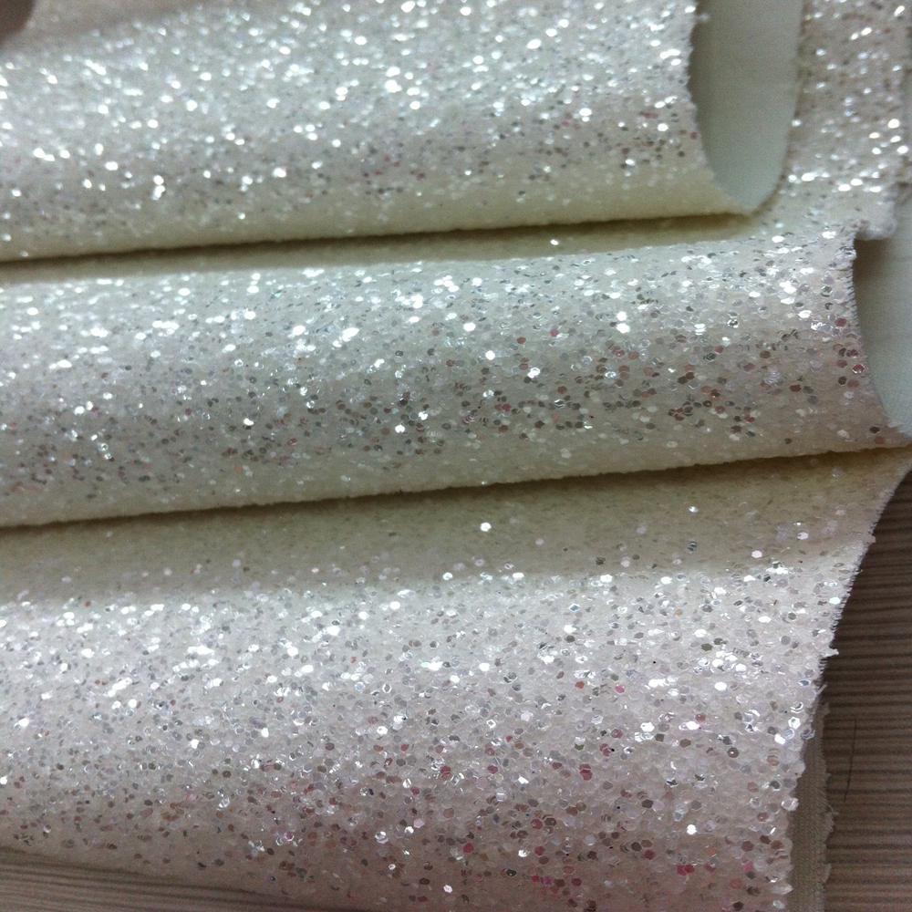 En71 1-3 onderdelen hoge shinning wit zilver glitter behang ...