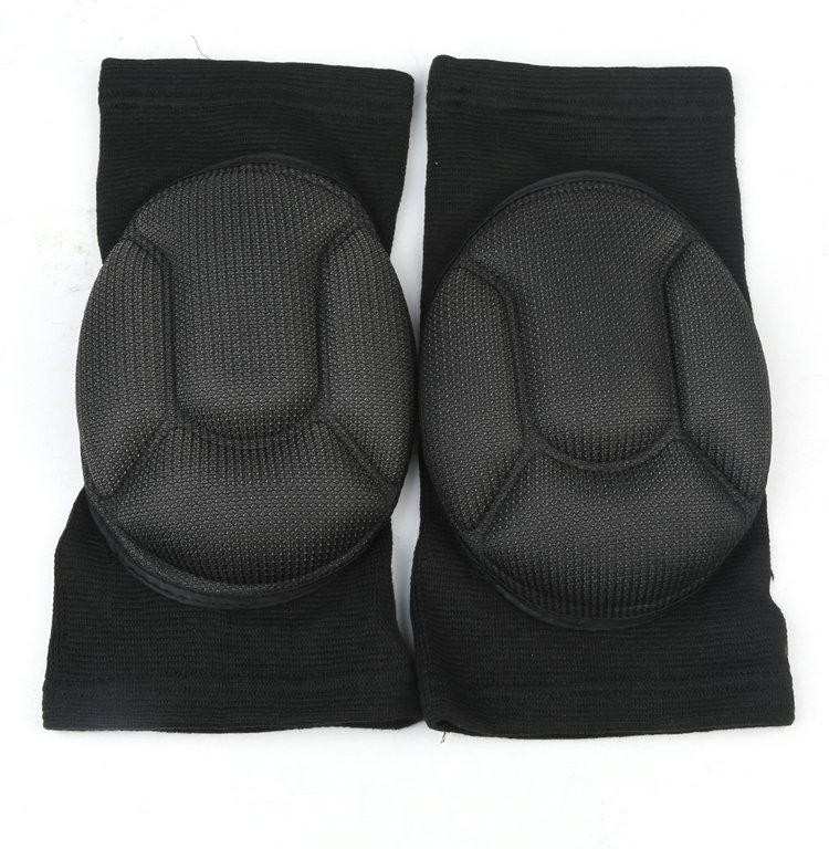2 шт. черный Kneepads футбол баскетбол волейбол коленной чашечки губка наколенники защитная