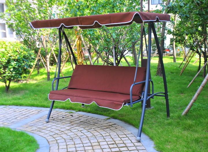 metall 3 sitz erwachsene freien schaukel bett mit kissen f r garten schwingen im hof produkt id. Black Bedroom Furniture Sets. Home Design Ideas