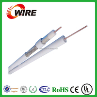 low loss coaxial cable RG 6 dual RG6 cable 75ohms for CCTV CATV system with CE RoHS ISO9001 approved