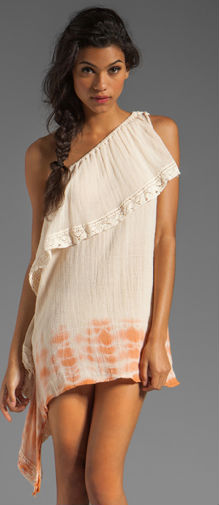 Half Moon Bay Mini Dress in Summer QuartzCinnamon Edge Dye Dress