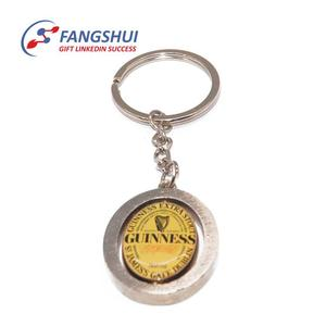 Wholesale stainless steel trolley shopping cart coin token key ring promotional trolley coin key ring