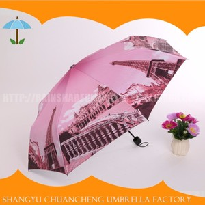 Cheap Hot Sale 3 Fold 55x8k Tower Windproof Anti Uv Umbrella