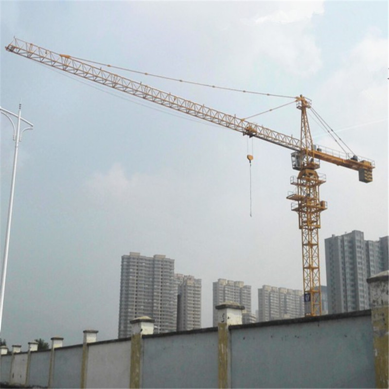 16ton capacity 70m boom crane tower with pin type mast