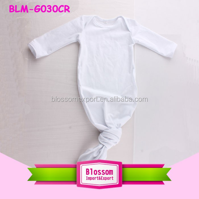 Unisex Baby Coming Home Sleeping Bag Knottes Romper Solid White Knot Baby Gowns 0-24M