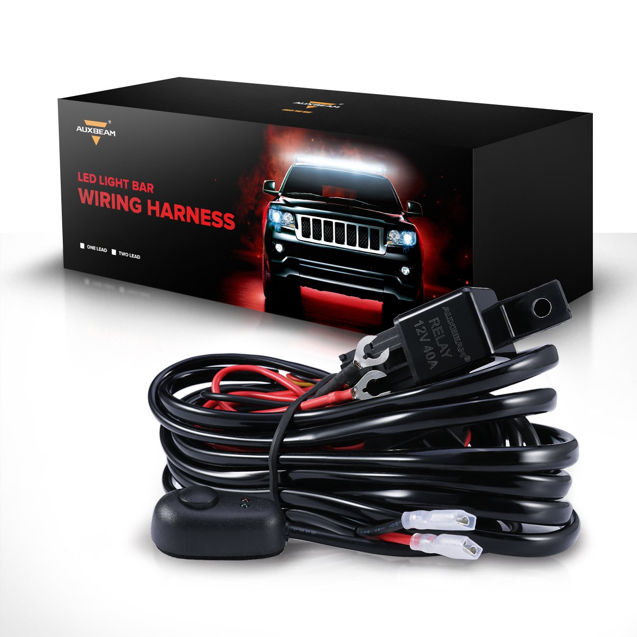 Cheap off road light harness find off road light harness deals on get quotations auxbeam universal led light bar wiring harness kit with fuse relay onoff switch for aloadofball