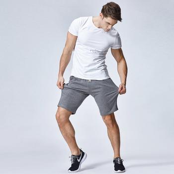 8f4195d8289 cotton classic style short men / heather grey raw edges cotton shorts