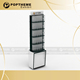 Newest acrylic floor watch display stand, Customized 11-43-CWFS-A01 watch display cabinet with led lighting for sale