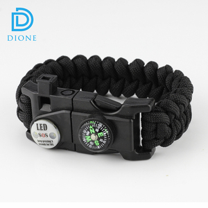 New arrival multifunctional 8 in 1 wholesale survival gear survival paracord bracelet