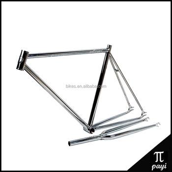 Hot Silver Retro Carbon Steel Bicicletas Fixed Gear Bike Frame Bike ...