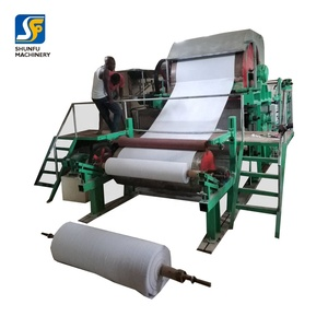 Waste paper recycling equipment/tissue roll making machine price/toilet tissue manufacturing machine