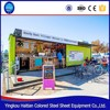 Assembled outdoor 20ft and 40ft shipping container shop prefabricated restaurant container low cost weight smart container kiosk