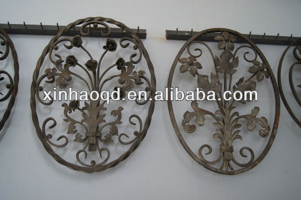 wrought iron flowers and leaves for fence