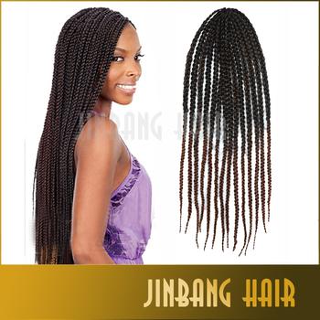 ... box braids hair ombre blue brown burgundy 27 freetress crochet braid